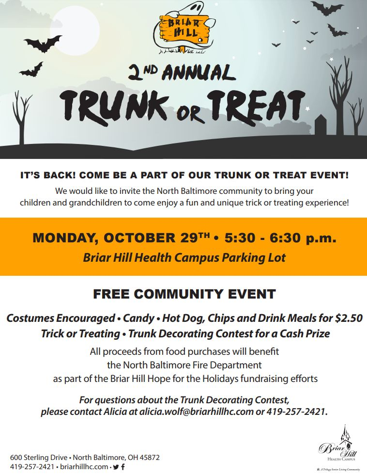 Briar Hill 2nd Annual Trunk or Treat