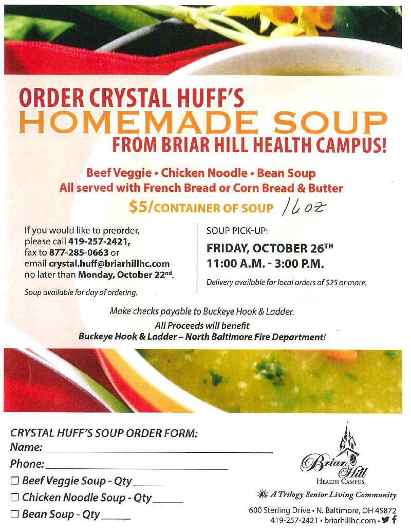 "Briar Hill ""Homemade Soup Sale"" Fundraiser"
