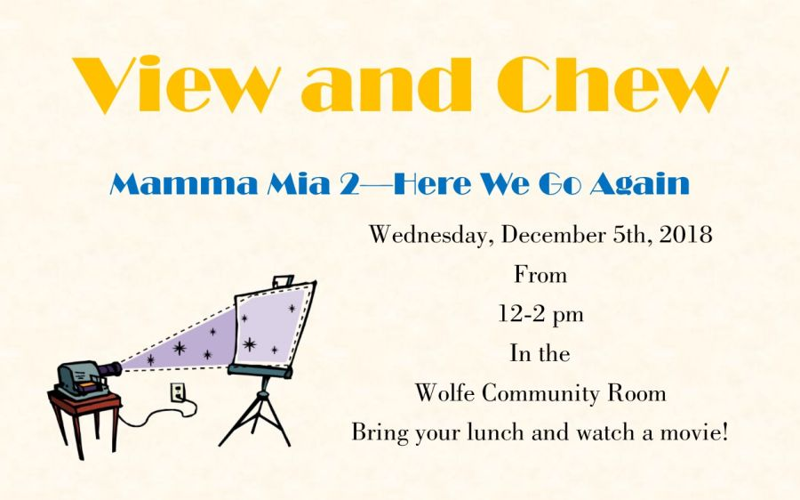NB Library View & Chew Movie – 12/5