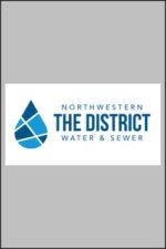 The District logo Gray background portait 250