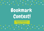 Library Sponsors Bookmark Contest