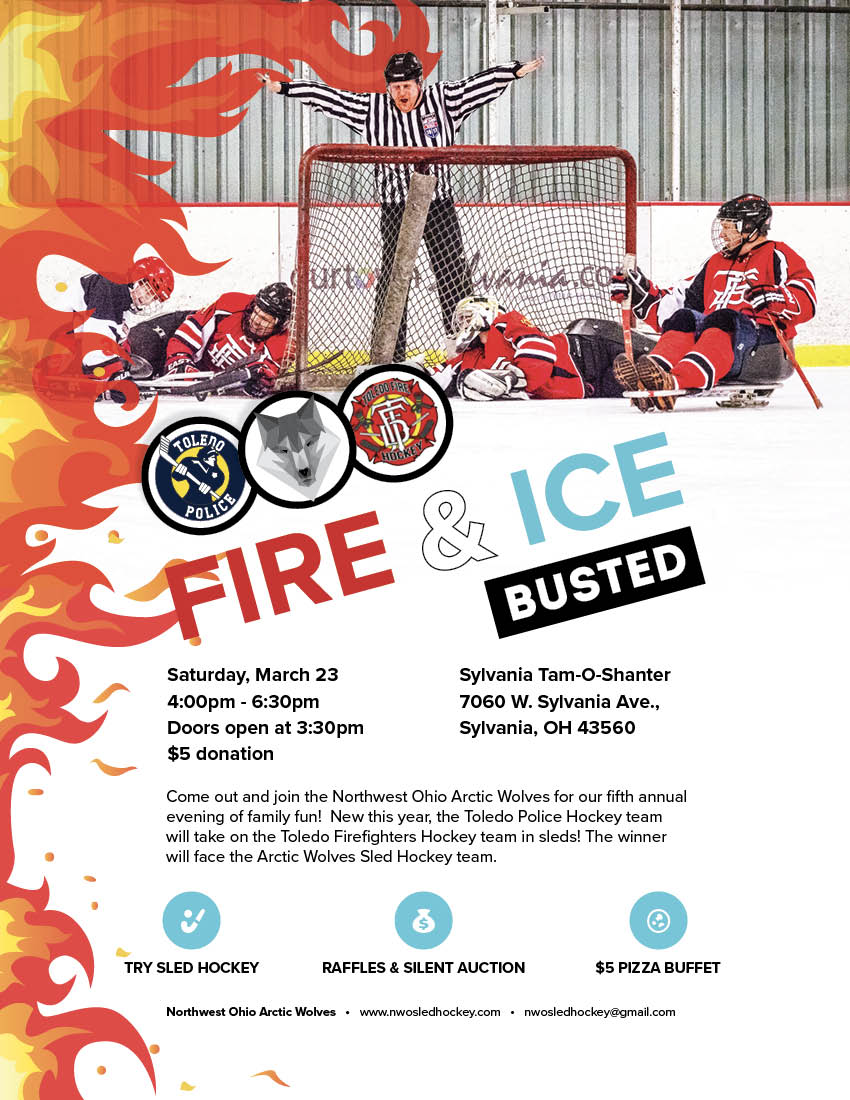 """5th Annual Fire & Ice Charity Game """"Busted"""""""