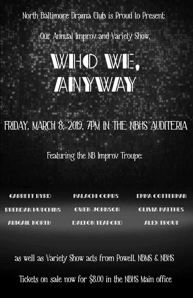 "Variety Show at NB Schools – ""Who We Anyway…"""