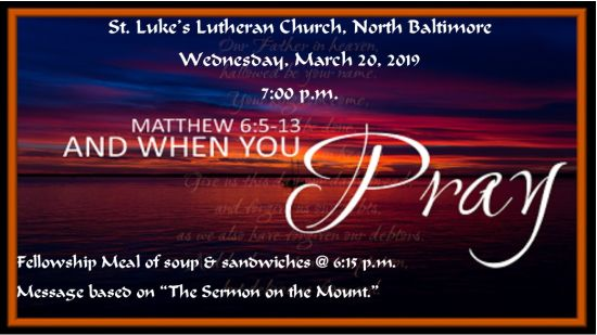 Wednesday Night Services at St. Luke's Church