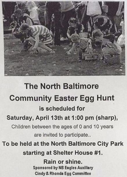 Egg Hunt is Saturday!