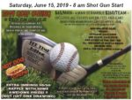 NBHS Baseball Golf Fundraiser 2019 flyer