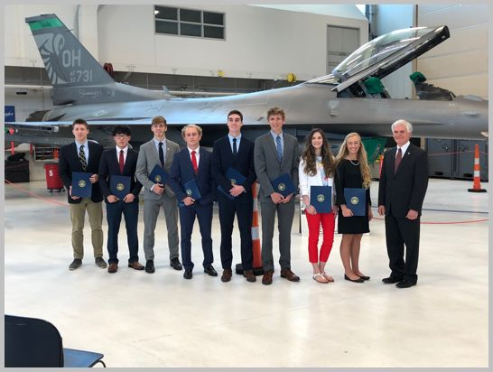 Students Accepted to U S  Military Service Academies at 180th