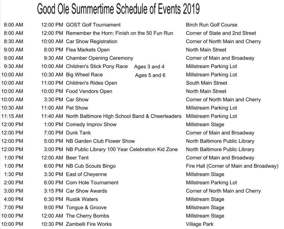 GOST 2019 Schedule of Events