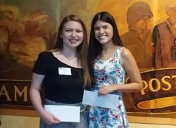 NB Alumni Scholarship winners were Sierrah Johnson and Christina Morales