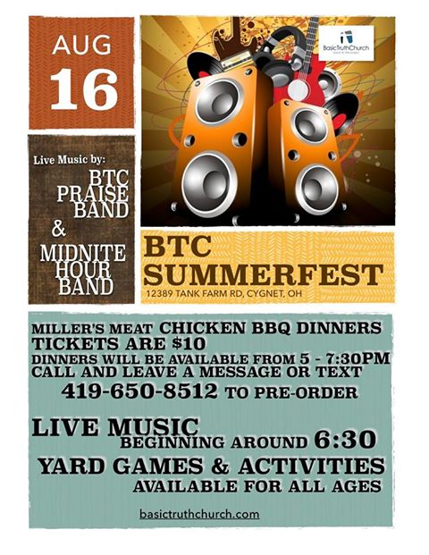 BTC SUMMERFEST Aug. 16