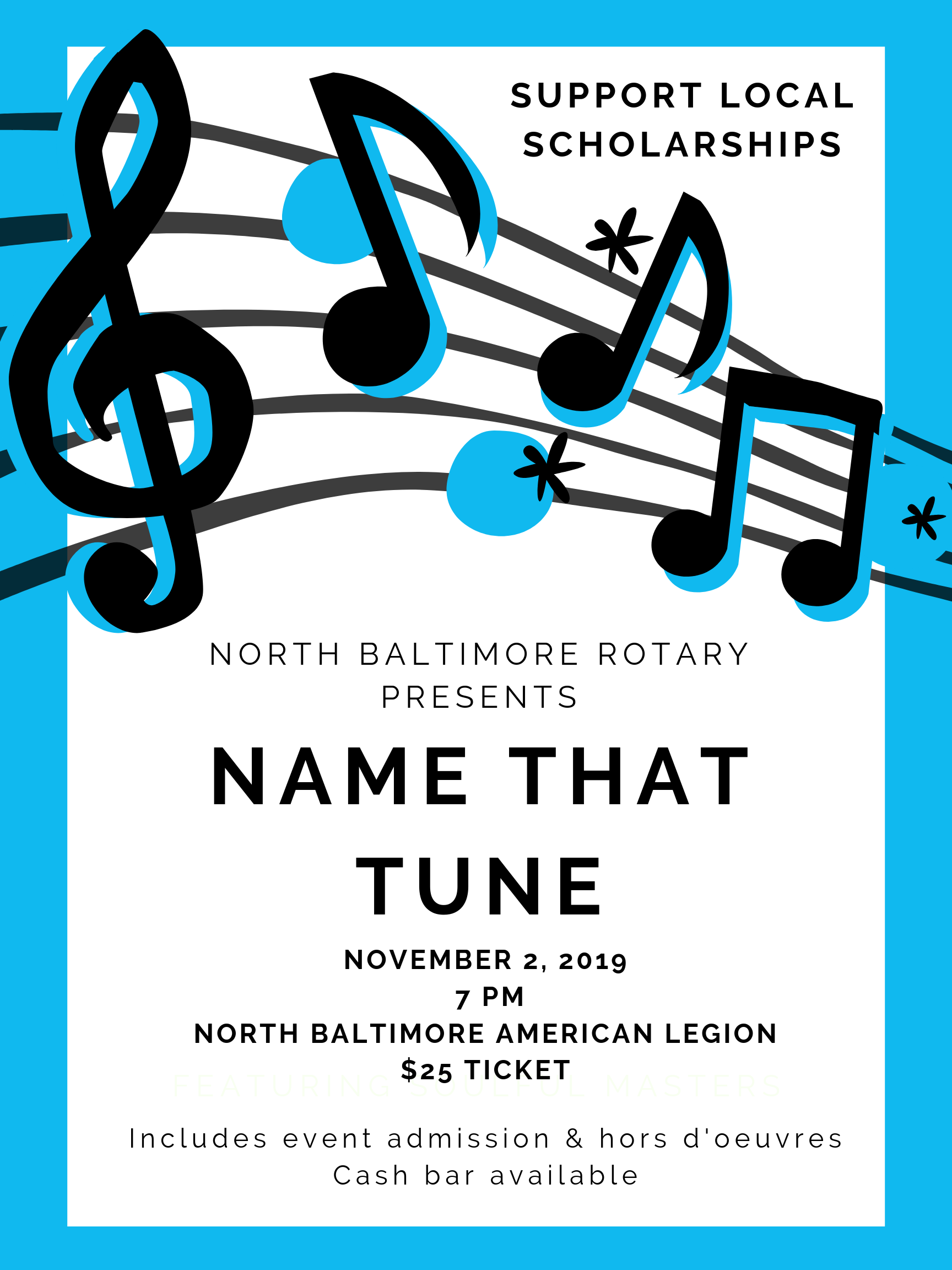 Rotary Name That Tune flyer