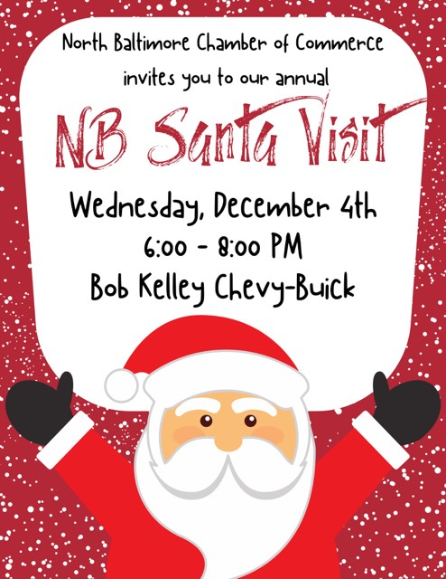 NB Chamber Santa Visit at Bob Kelley's