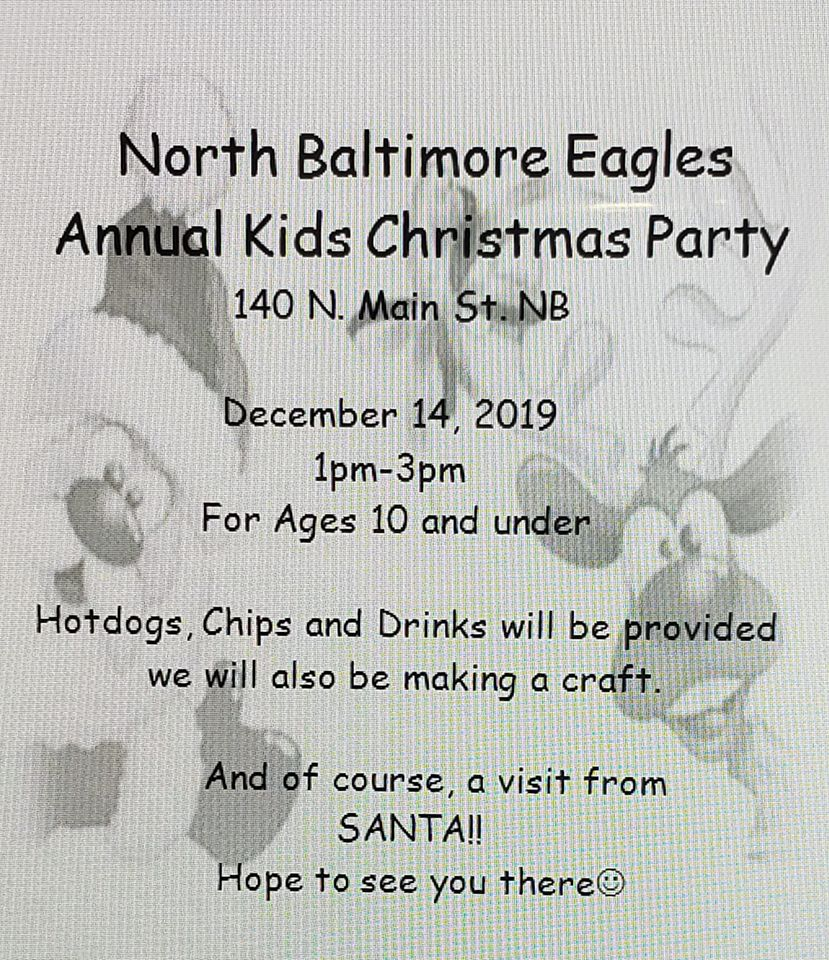 NB Eagle's Annual Kid's Christmas Party Planned