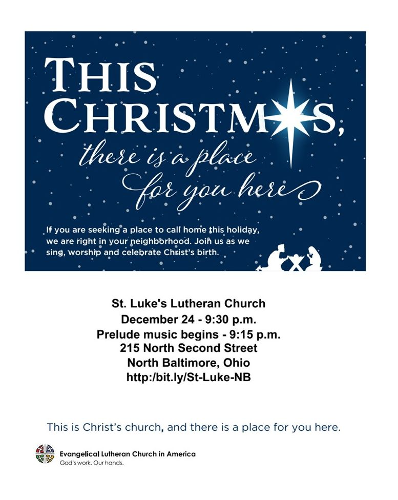 St Luke's Invites You to Christmas Eve Service