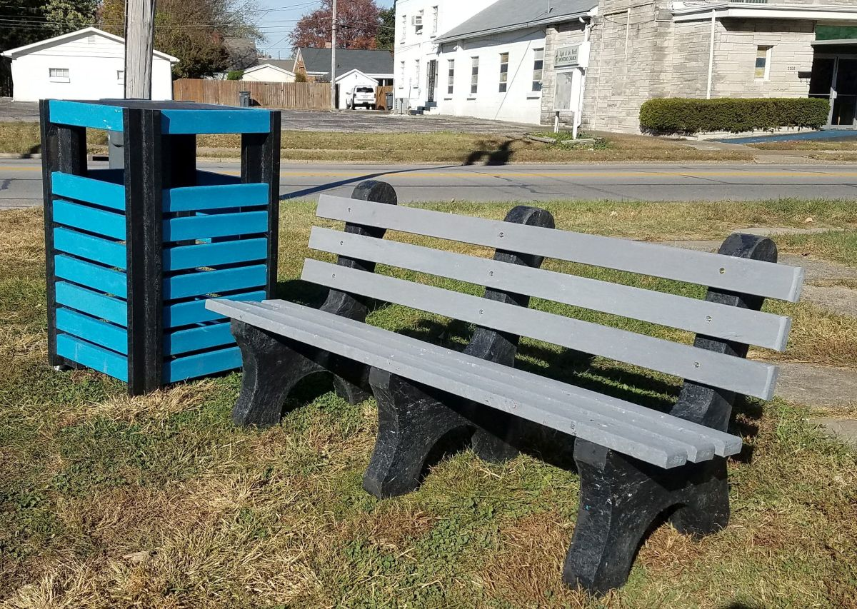 Recycle benches