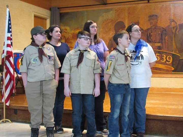 Pack #372 Blue and Gold Ceremony and Webelos Two Crossover