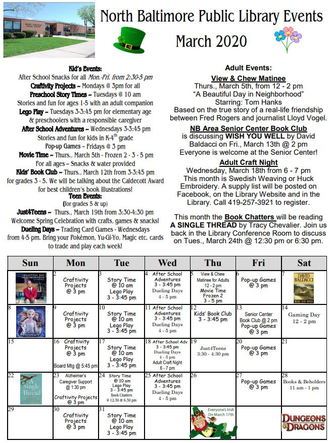 NB Library March '20 Newsletter