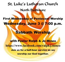 St. Luke's Mid-Week Worship Info