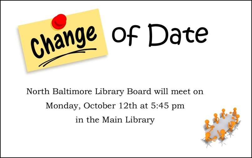 NB Library Board Meeting Changed