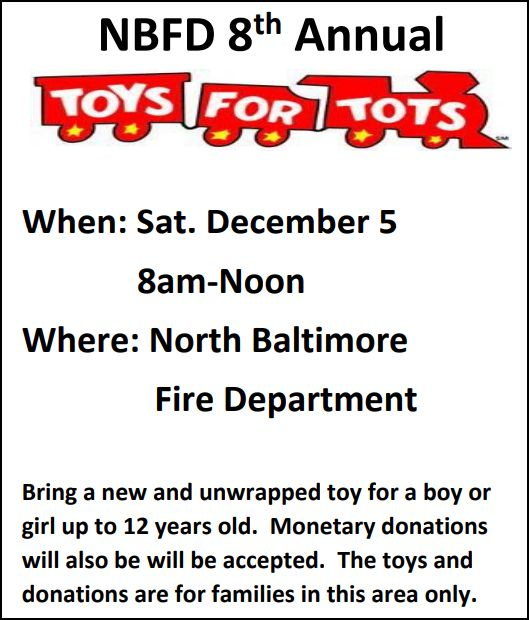 NBFD 8th Annual Toys for Tots – Photo Gallery of Past Collections