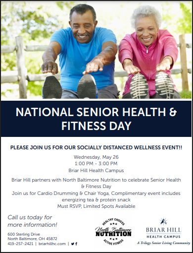 Briar Hill Senior Wellness Event Wed. May 25