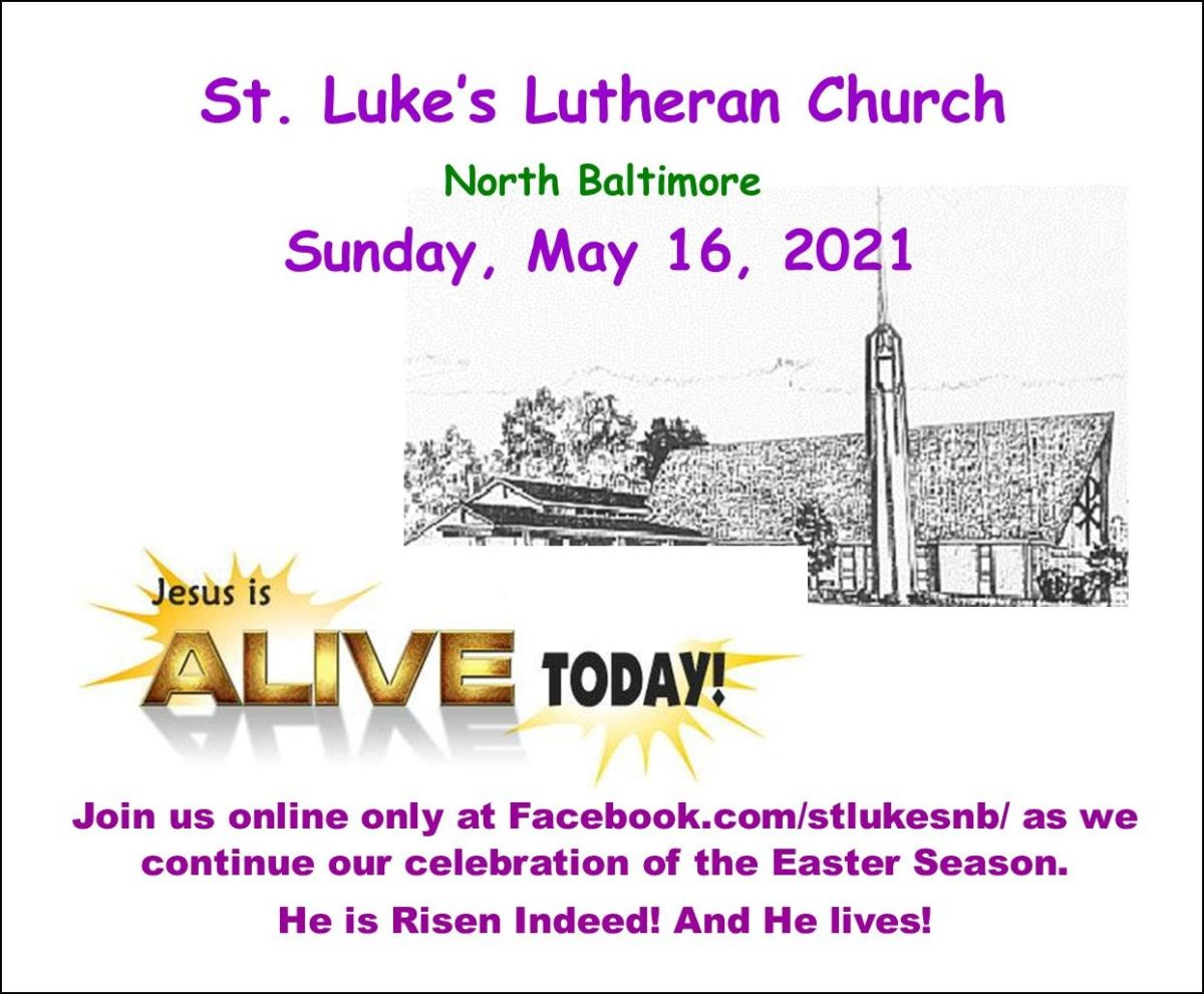 Worship News from St. Luke's Lutheran Church