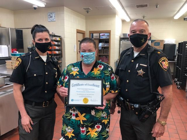 """WC Jail Receives """"Clean Plate"""" Award"""